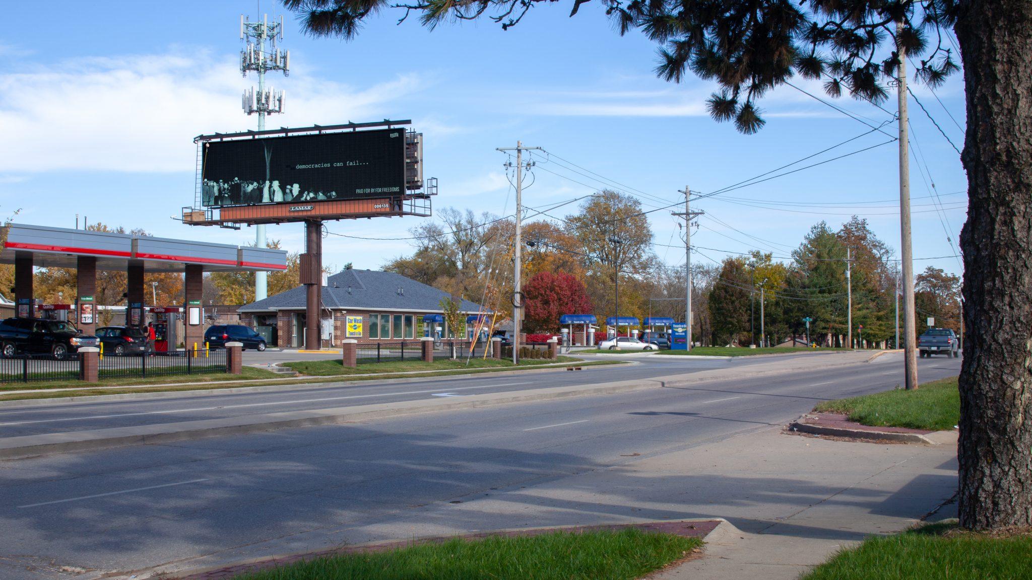 ForFreedoms Billboard, Wonder Gaze, Des Moines, IOWA
