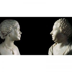 two busts of women